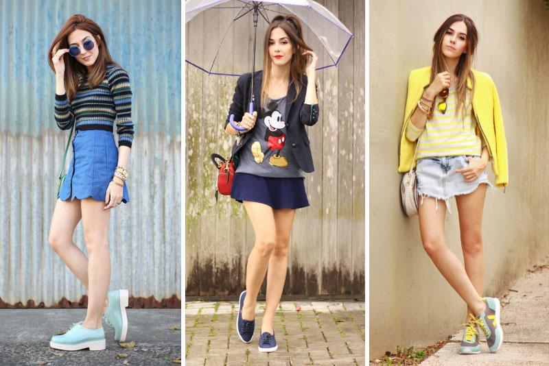 3 como usar looks com tênis coloridos blog fashioncoolture