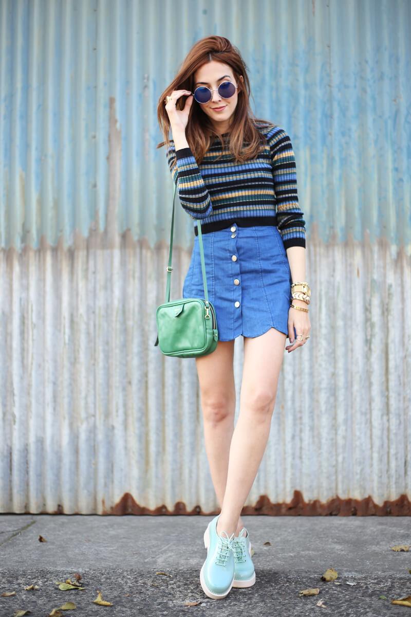 FashionCoolture - 02.08.2016 look du jour striped top scalloped skirt (1)