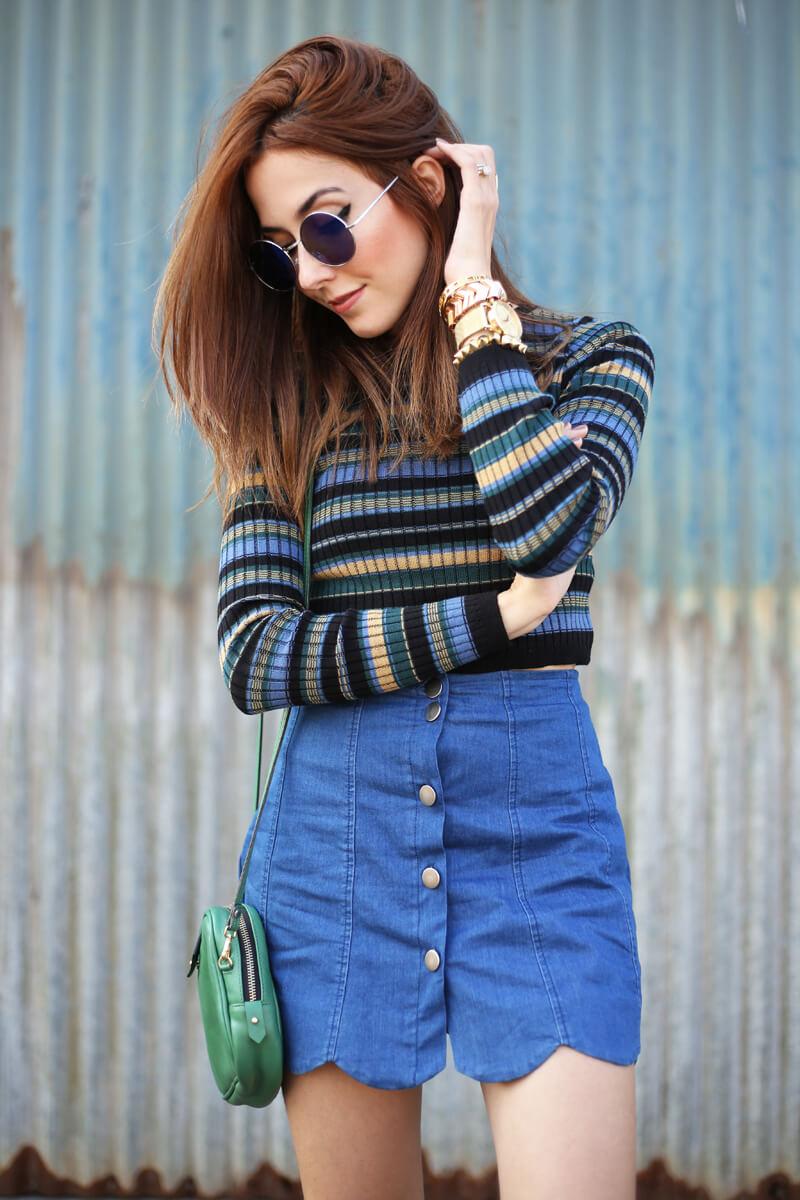 FashionCoolture - 02.08.2016 look du jour striped top scalloped skirt (2)