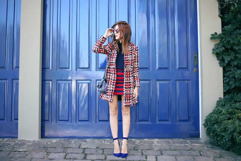 FashionCoolture - 03.08.2016 look du jour red navy blue stripes (1)