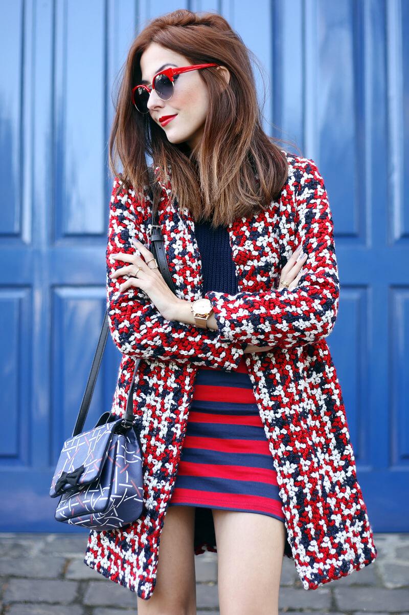 FashionCoolture - 03.08.2016 look du jour red navy blue stripes (2)
