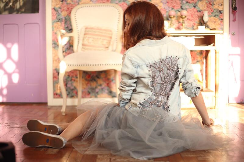 FashionCoolture - 05.08.2016 look du jour denim jacket tule skirt recollection lab (12)
