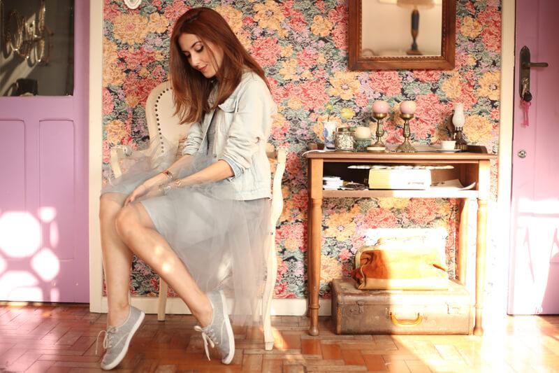 FashionCoolture - 05.08.2016 look du jour denim jacket tule skirt recollection lab (7)
