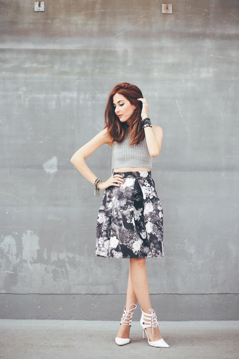 FashionCoolture - 08.08.2016 look du jour midi floral skirt gray (7)