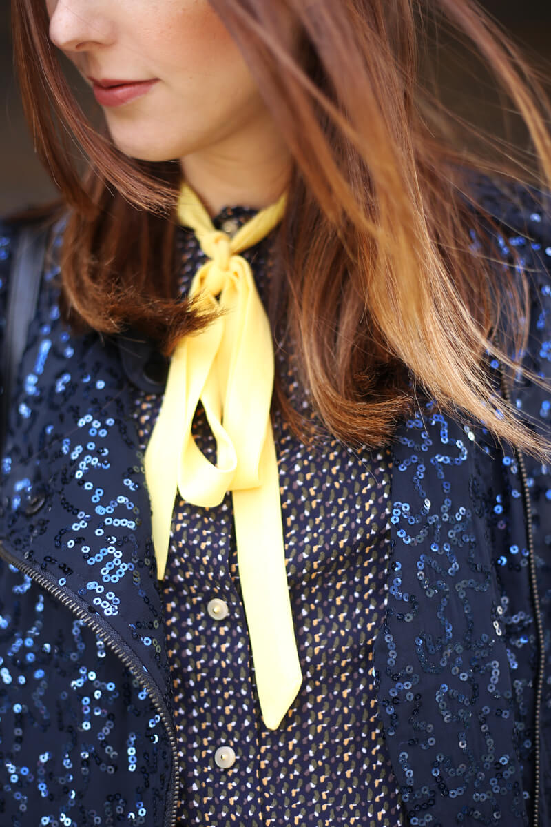 FashionCoolture - 10.08.2016 look du jour Miss Patina shirt navy blue sequined jacket (4)