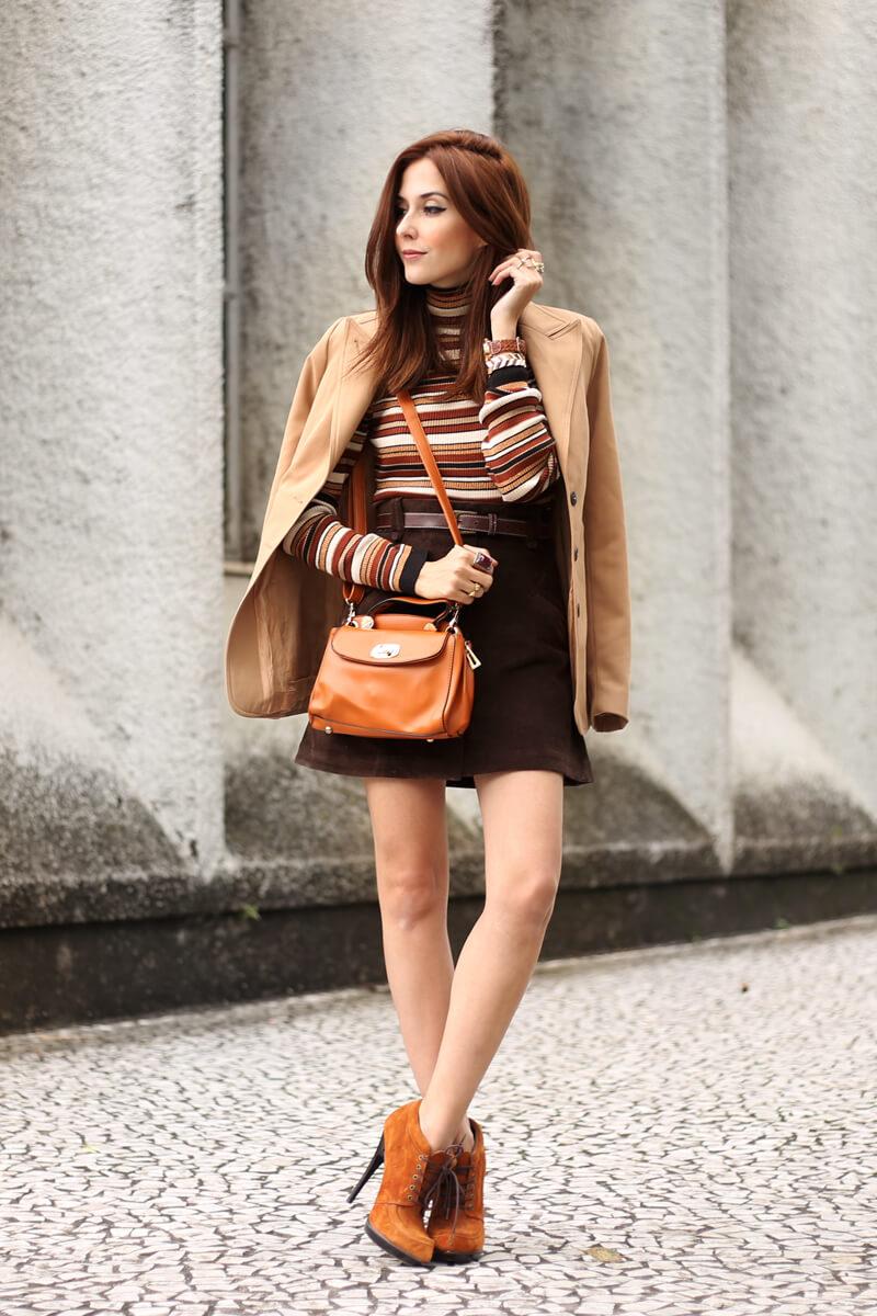 FashionCoolture - 22.08.2016 look du jour Amaro sale caramelo bolsa camel coat striped top (5)
