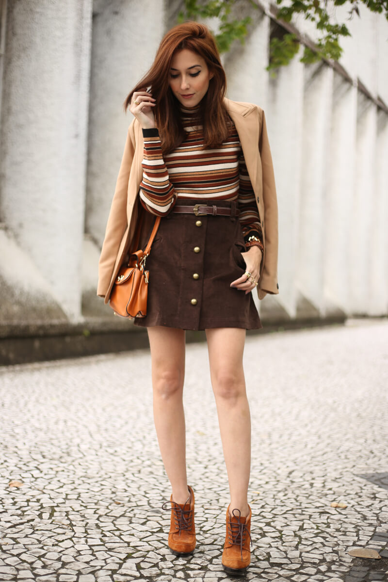 FashionCoolture - 22.08.2016 look du jour Amaro sale caramelo bolsa camel coat striped top (7)