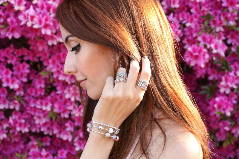FashionCoolture - 24.08.2016 look du jour Floral Pandora jewelry rings (5)