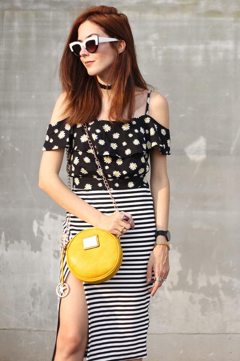 a7e43e0f5d1 ... FashionCoolture - 31.08.2016 look du jour Slywear striped skirt floral  daisy top (2 ...