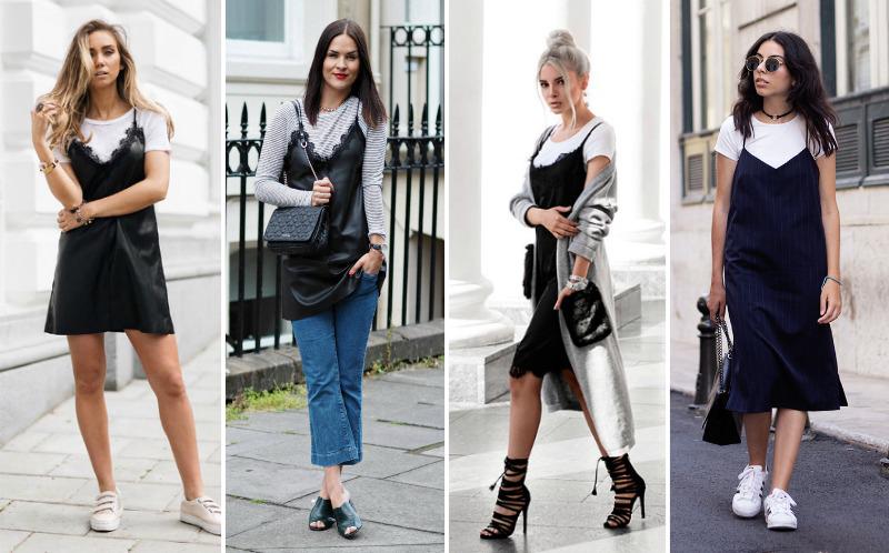 Tendência Sobreposição de camiseta com vestido Blog FashionCoolture