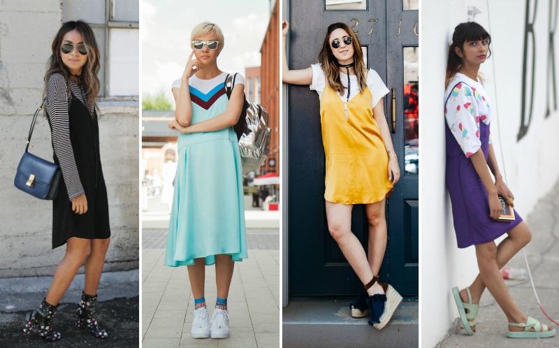 Trend Slip Dress Over T-shirt Fashion Coolture Blog