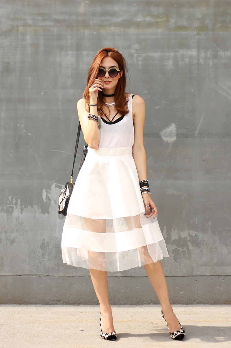 FashionCoolture - 06.09.2016 look du jour all white midi skirt see through skirt (6)