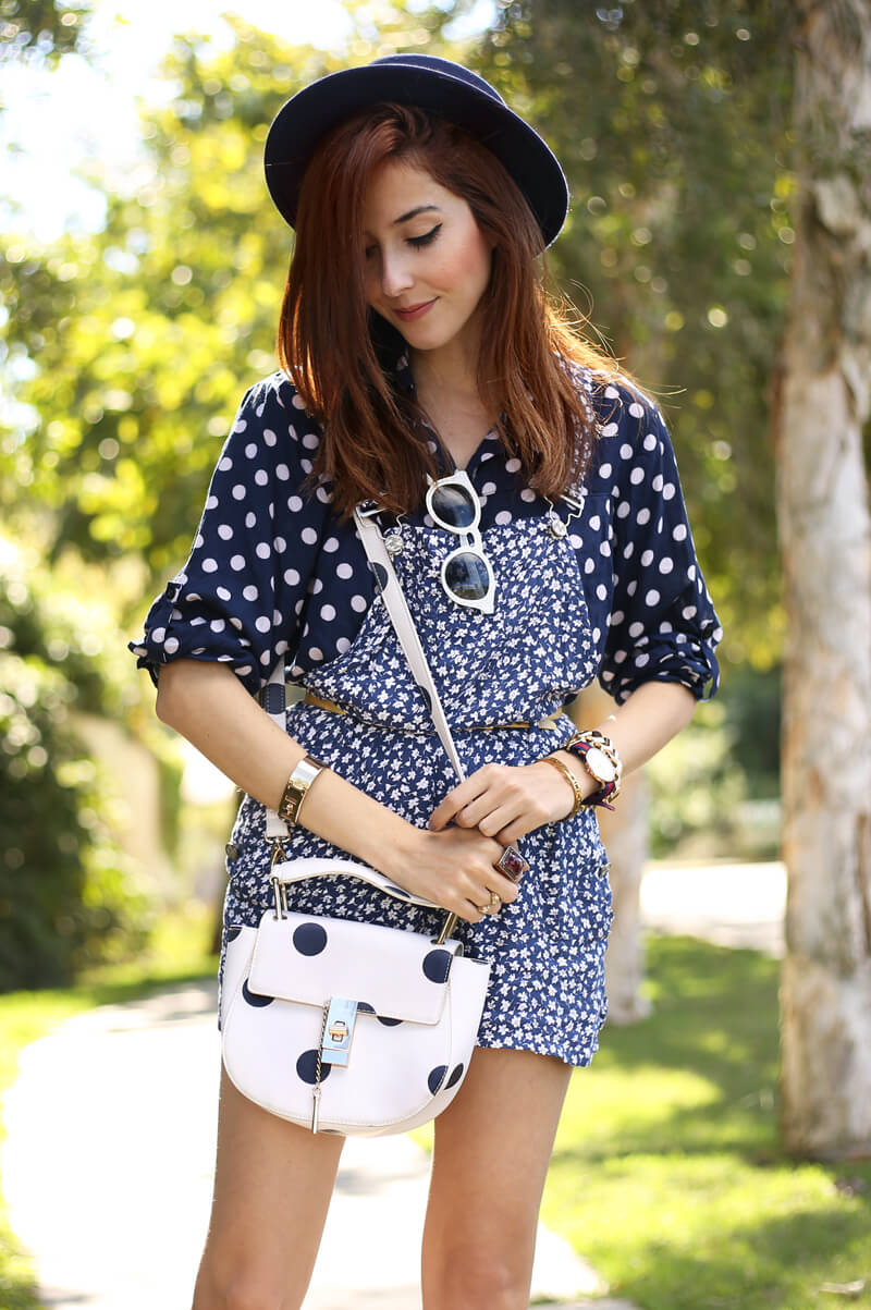 fashioncoolture-26-09-2016-look-du-jour-mix-of-prints-floral-romper-polka-dots-shirt-striped-shoes-7