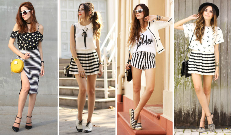 listras preto e branco black and white stripes looks flávia desgranges van der linden