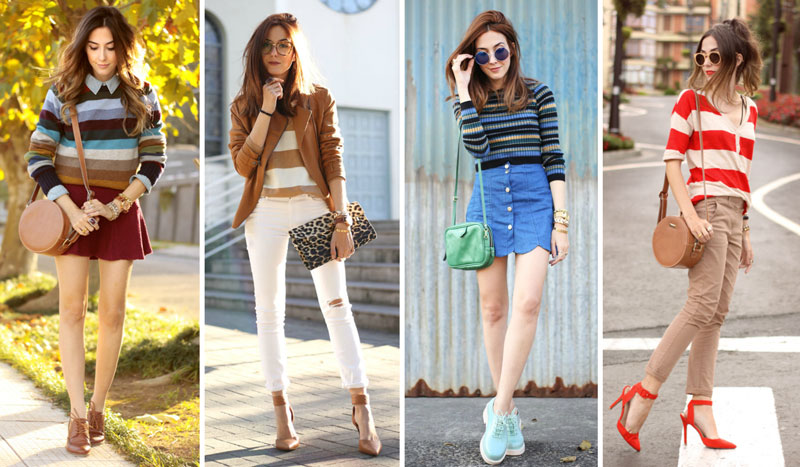 matching colorful stripes Fashion Coolture blog