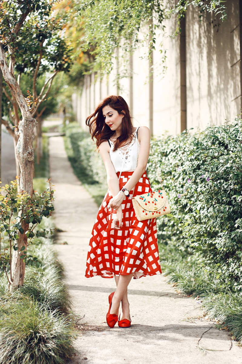 fashioncoolture-07-12-2016-look-du-jour-red-Red Gingham Skirt