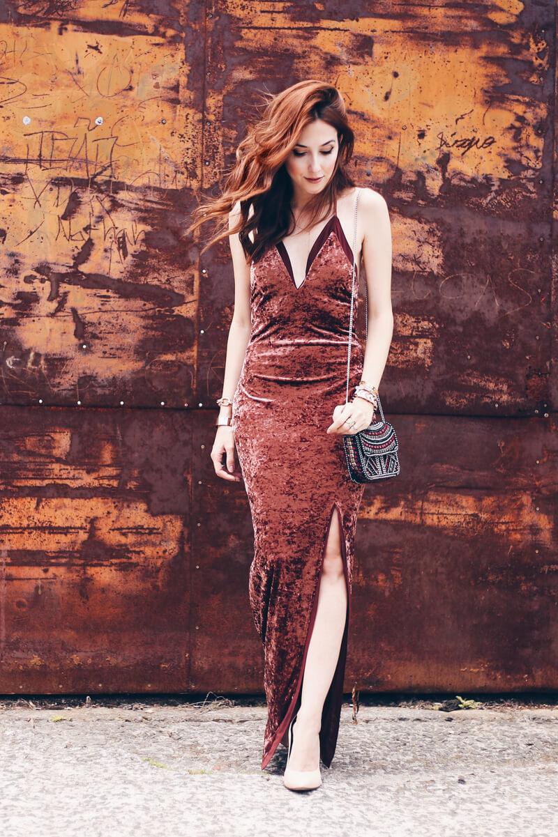Red dress velvet 12