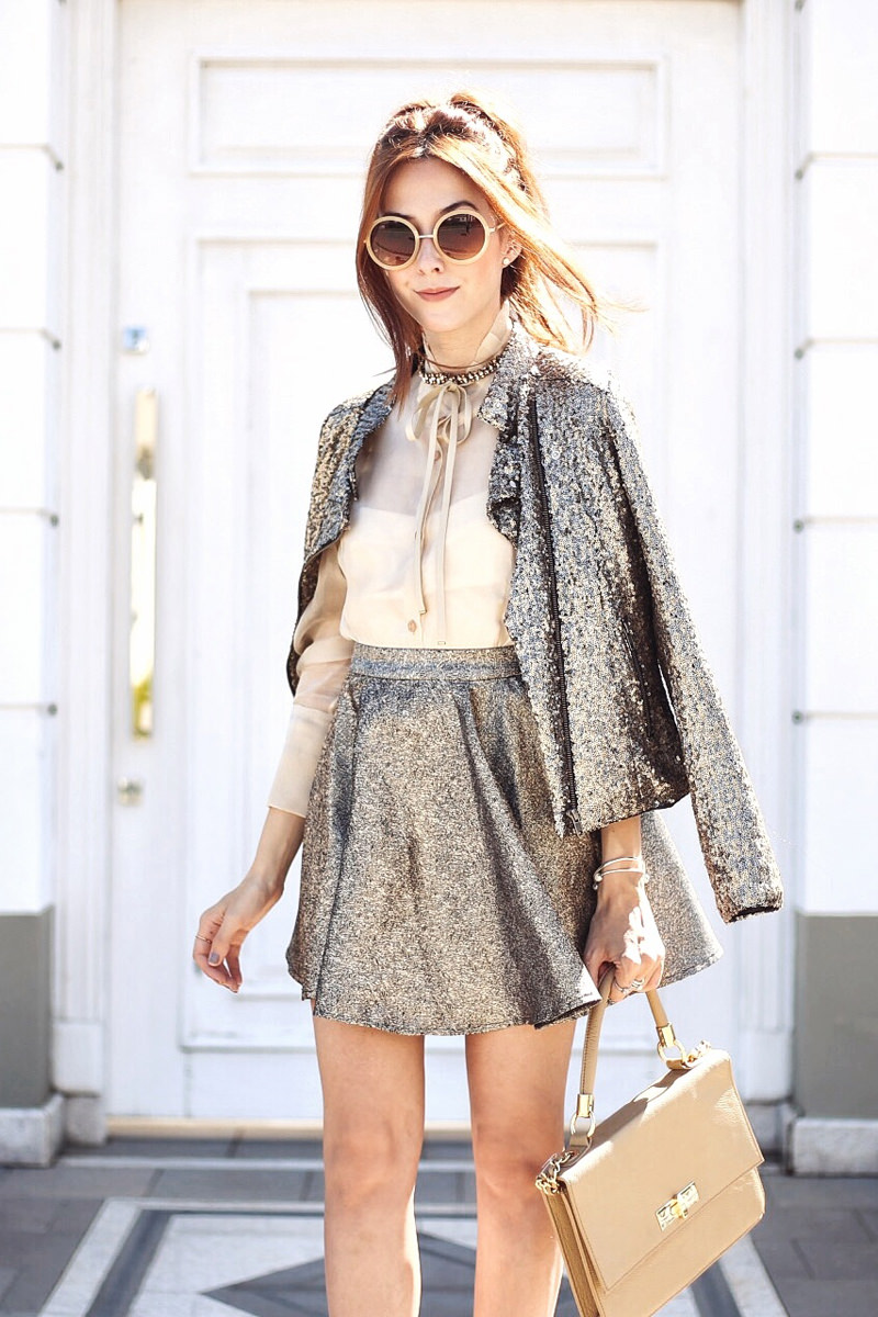 golden sequined jacket