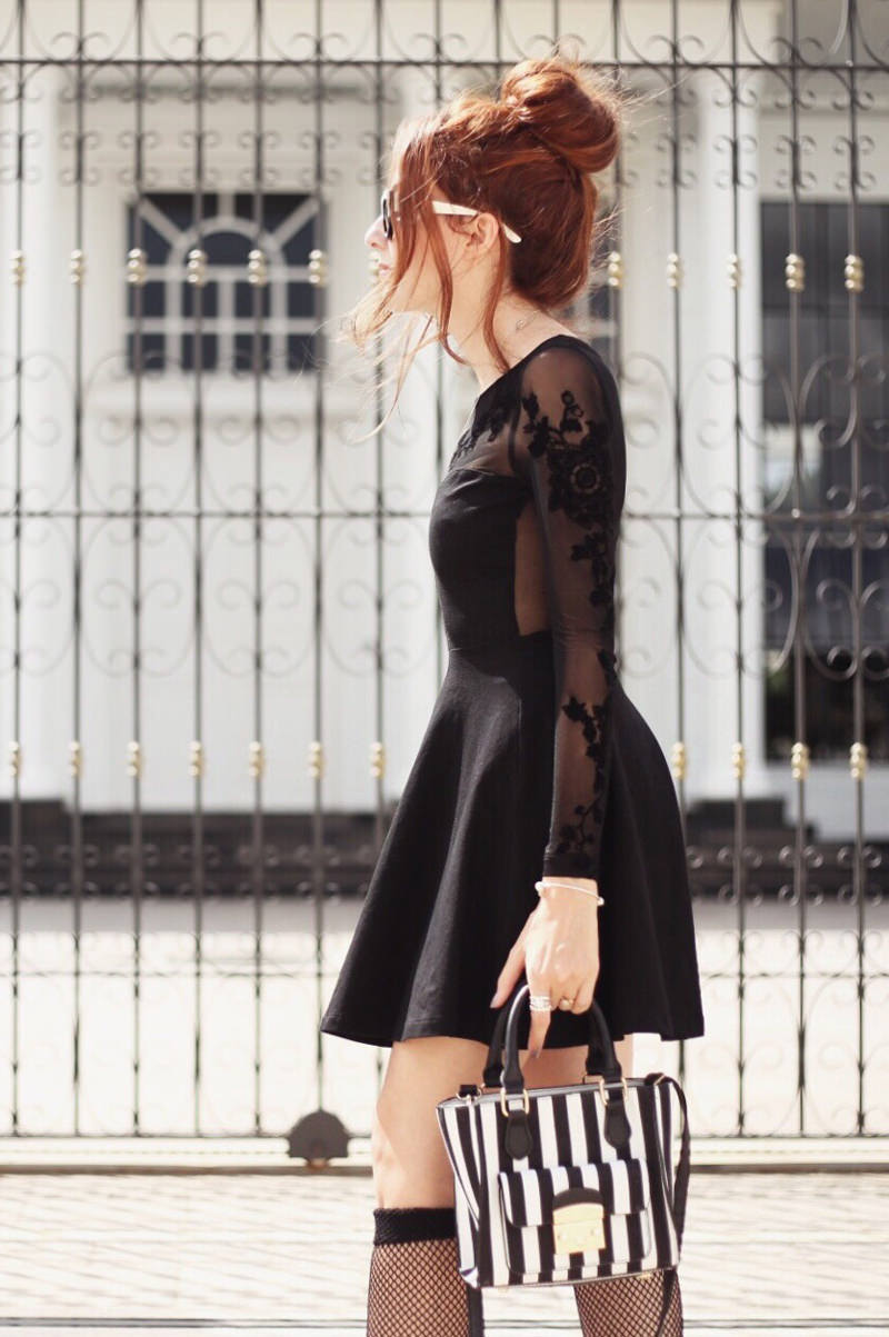 black sheer dress