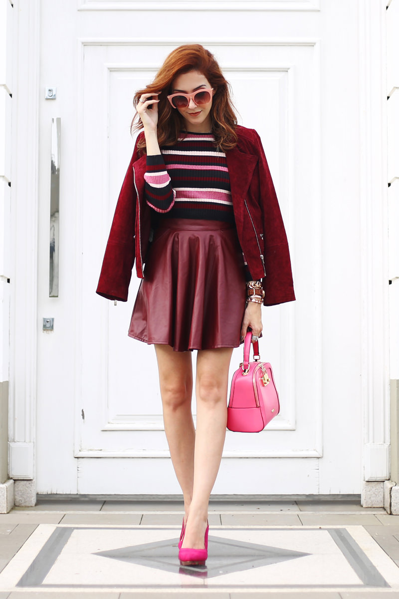 Burgundy and Pink