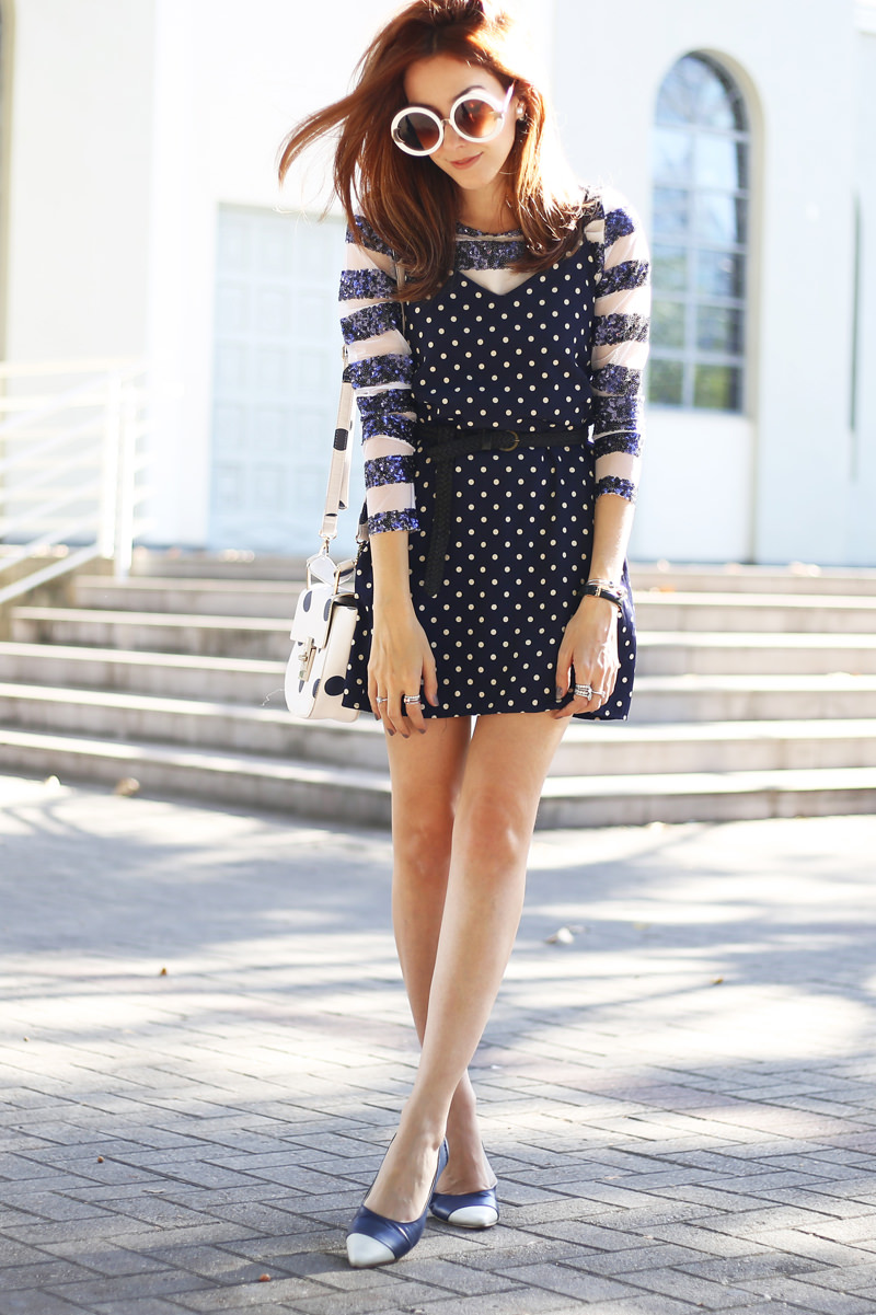 polka dots and stripes