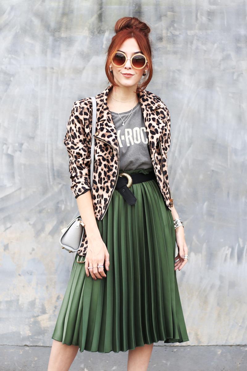 1 Saia 3 Looks: saia midi verde | FashionCoolture